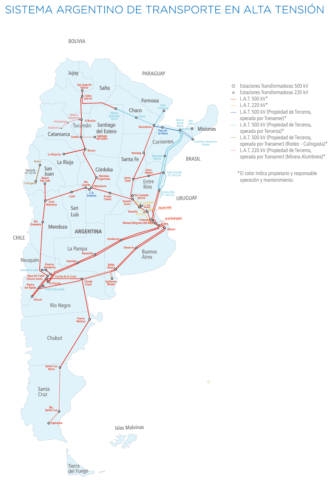 Mapa Transener